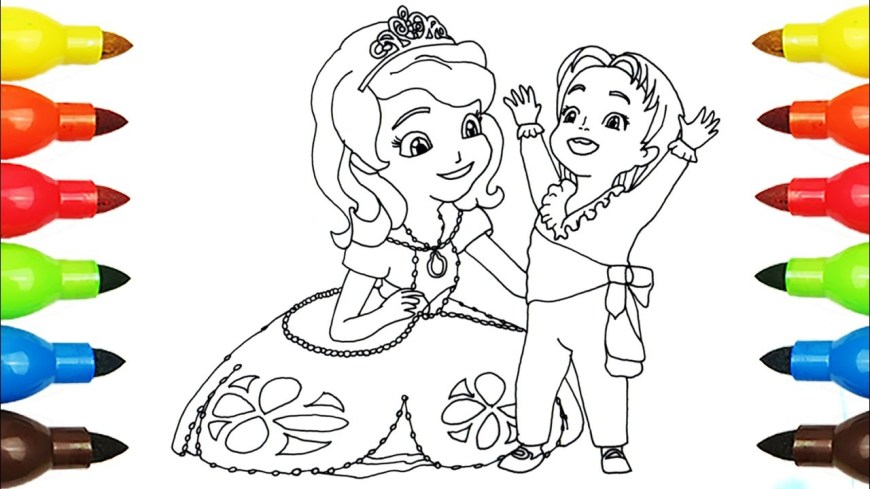 Sofia Coloring Pages Sofia The First Princess Sofia Coloring Page L Disney Junior