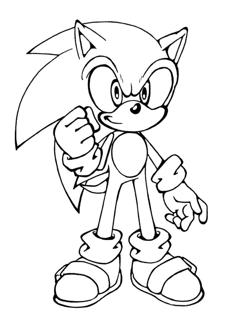 Sonic Coloring Pages Sonic For Kids Sonic Kids Coloring Pages