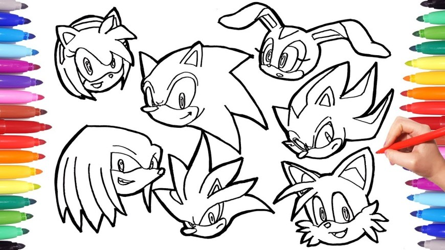 Sonic Coloring Pages Sonic The Hedgehog Coloring Pages Watch How To Draw All Sonic