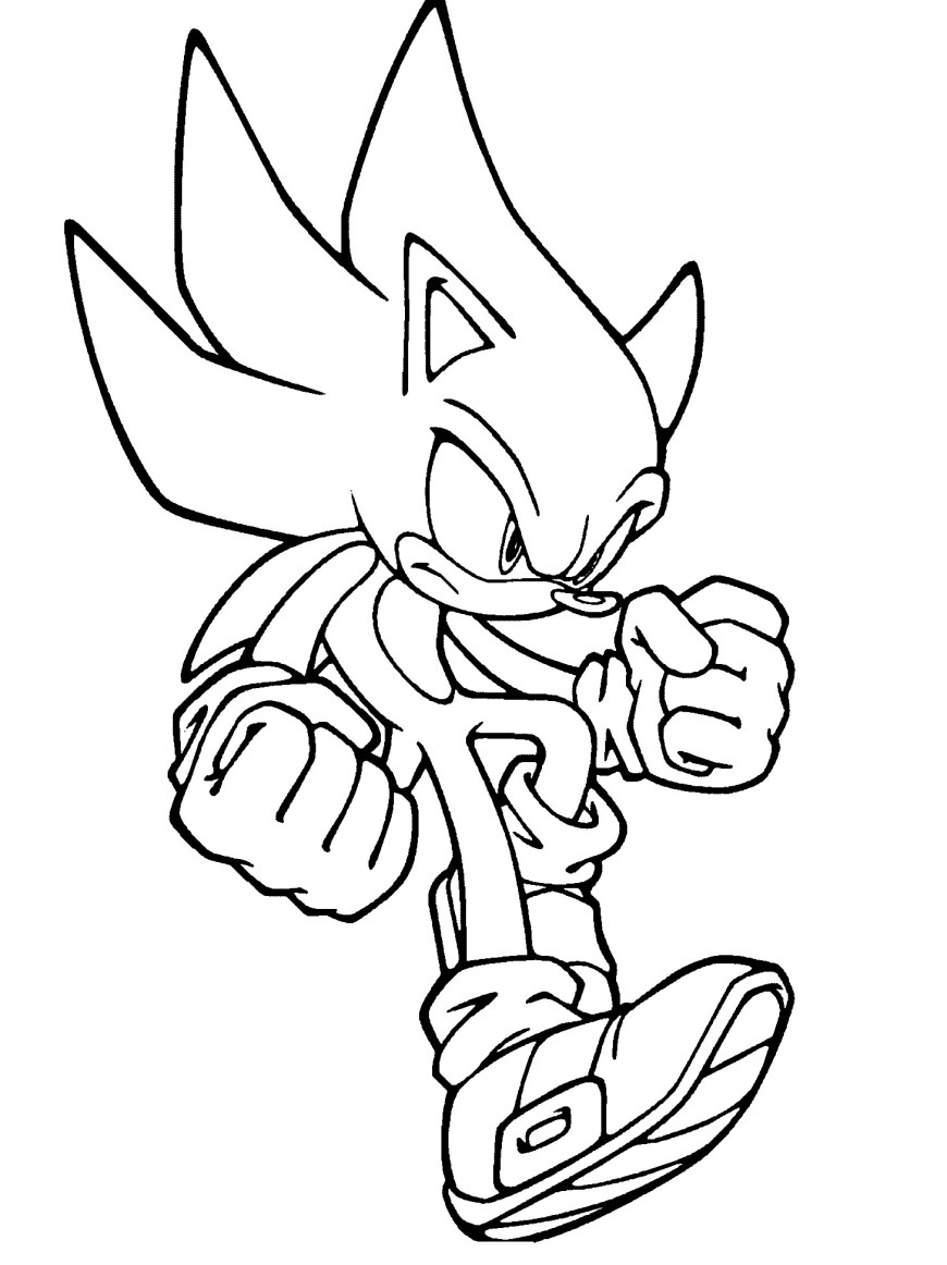 Sonic Coloring Pages Super Sonic Printable Coloring Pages