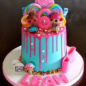 Special Birthday Cakes A Beautiful Colorful Lol Surprise Doll Birthday Cake For A Special