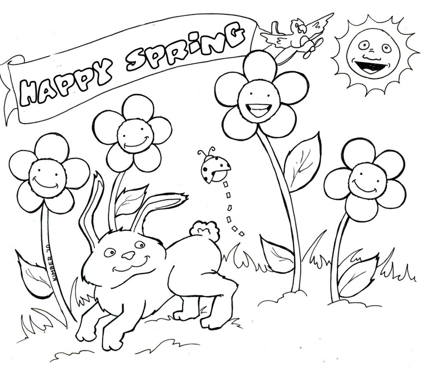 Spring Coloring Page Coloring Pages For Hanukkah For Preschoolers Coloring Spring