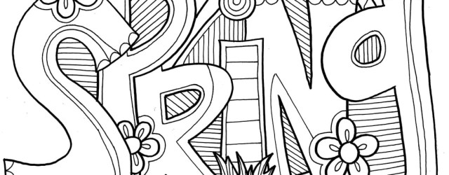 Spring Coloring Page Spring Coloring Pages Doodle Art Alley