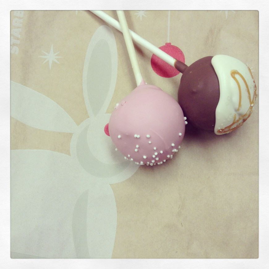 Starbucks Birthday Cake Pop Birthday Cake Salted Caramel Flavored Cake Pops From Starbucks