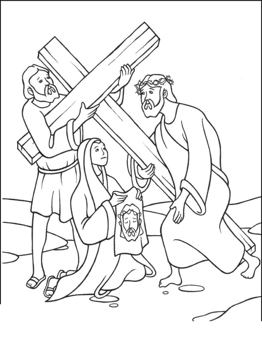 Stations Of The Cross Coloring Pages Jesus On The Cross Coloring Pages Stations Pictures Super Coloring