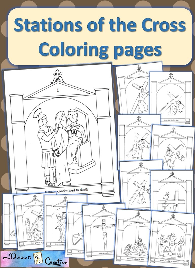Stations Of The Cross Coloring Pages Stations Of The Cross Coloring Pages Drawn2bcreative