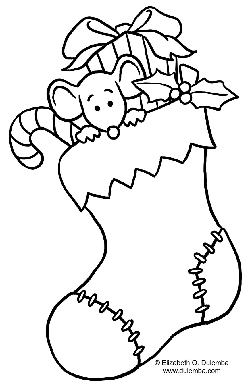Stocking Coloring Page Christmas Stocking Coloring Pages For Kids At Getdrawings Free