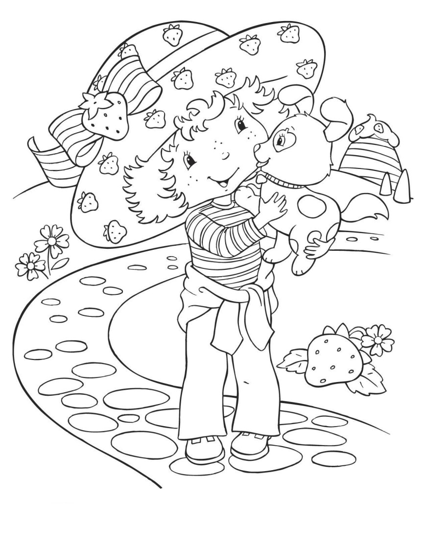 Strawberry Coloring Page Charlotte With Strawberry Coloring Page 33 Coloring Pages