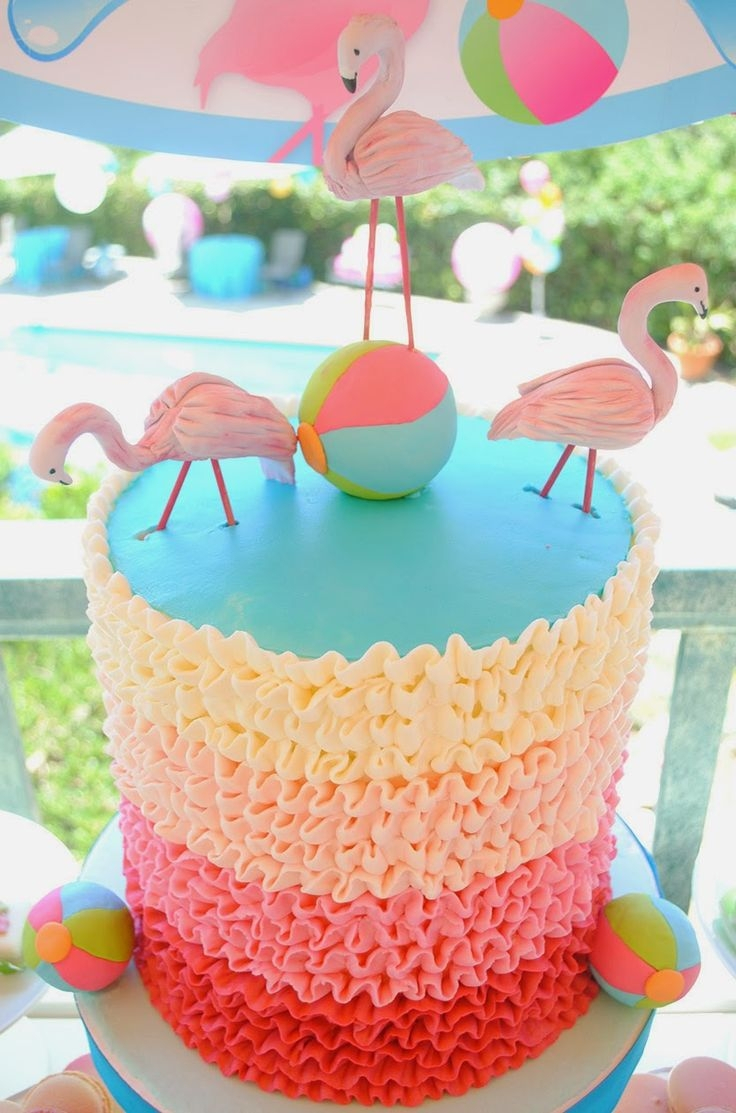 Summer Birthday Cakes 230 Best Pineapple And Flamingo Themed Party Images On Pinterest