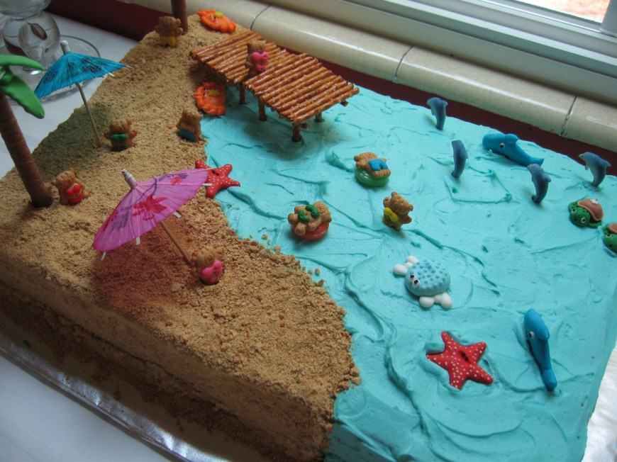 Summer Birthday Cakes Summer Beach Cake Frazis Cakes