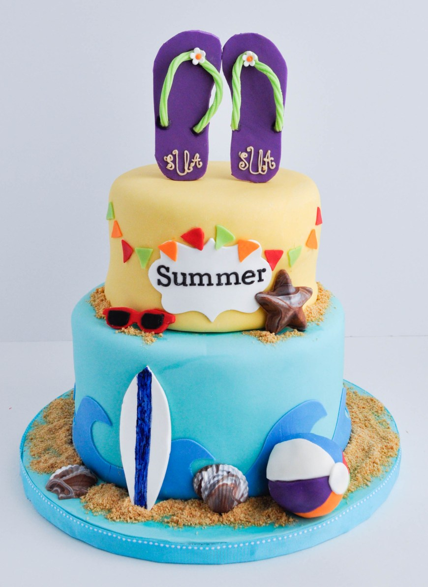 Summer Birthday Cakes Summer Birthday Cakes
