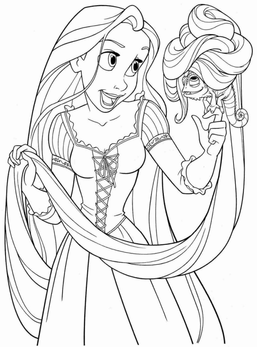 Tangled Coloring Pages Coloring Pages Fantastic Rapunzelg Pages Pdf Disney To Print Save