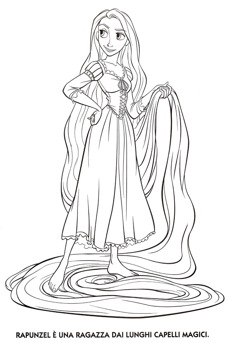 Tangled Coloring Pages Disney Princess Tangled Rapunzel Coloring Pages Free Printable For