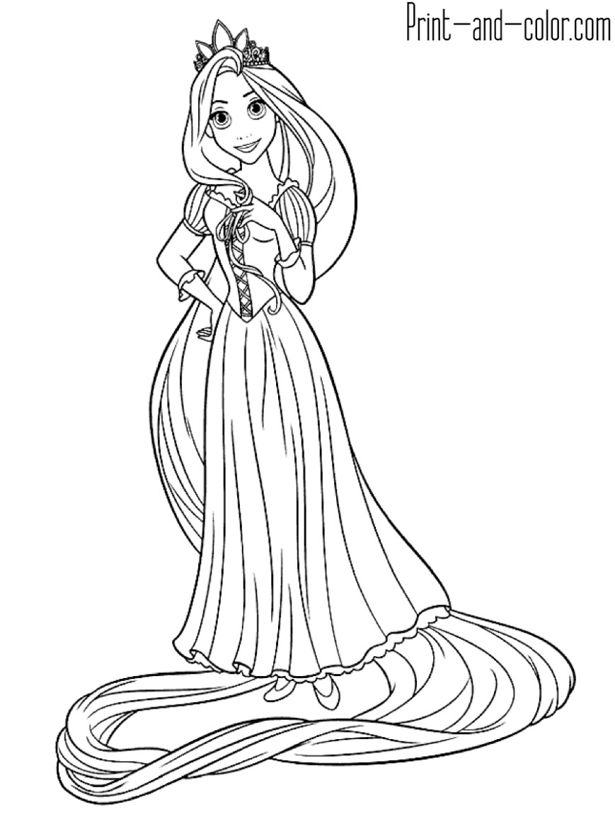 Tangled Coloring Pages Rapunzel Coloring Pages Print And Color