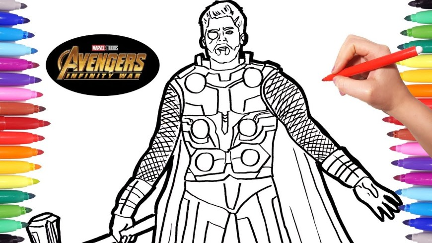 Thor Coloring Pages Avengers Infinity War Thor Avengers Coloring Pages Watch How To
