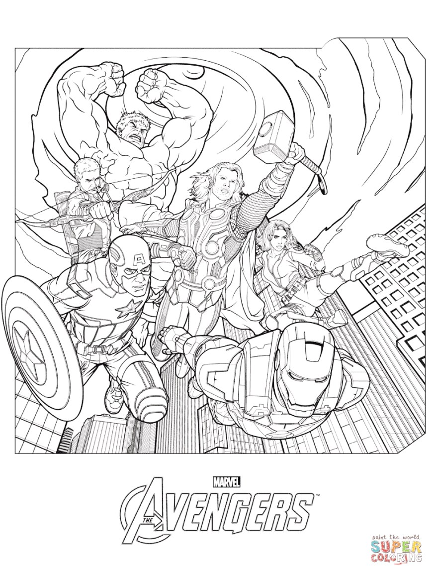 Thor Coloring Pages Marvel Thor Coloring Page Free Printable Coloring Pages