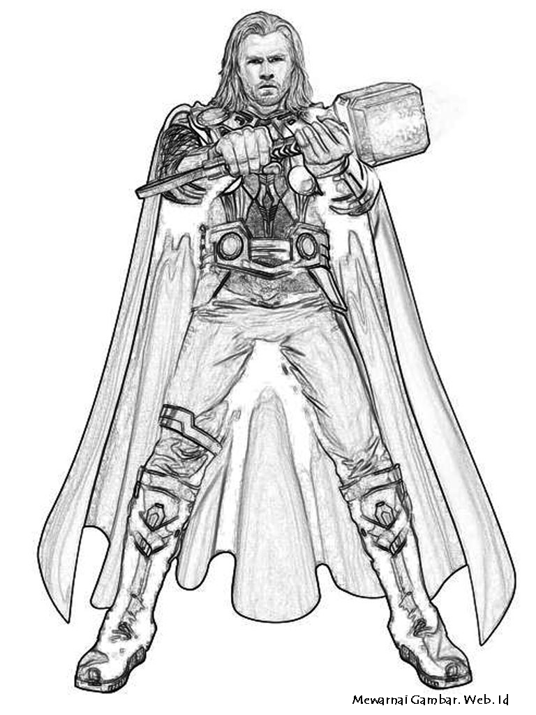 Thor Coloring Pages Thor 64 Superheroes Printable Coloring Pages