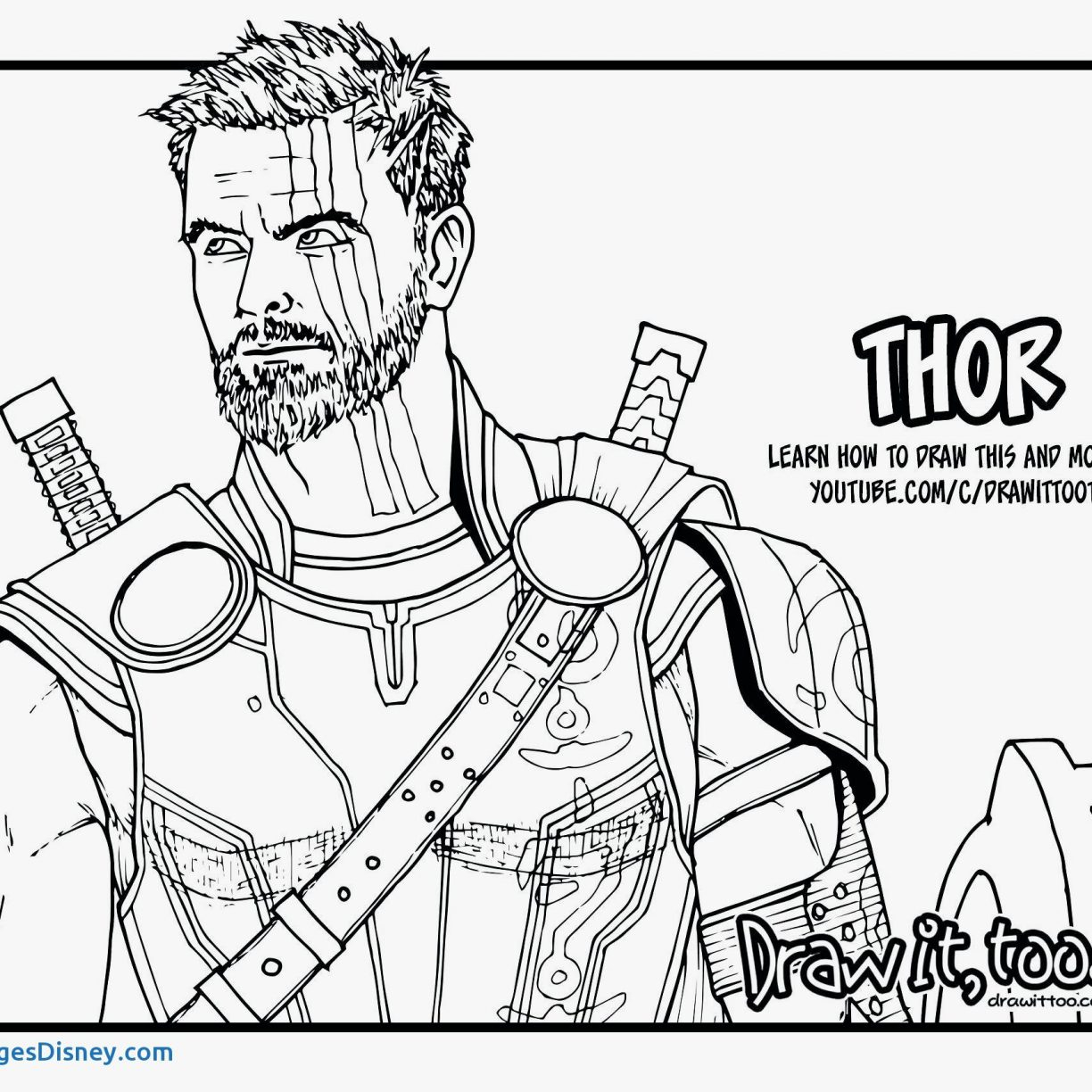 Thor Coloring Pages Thor Coloring Pages Printable Page For Kids