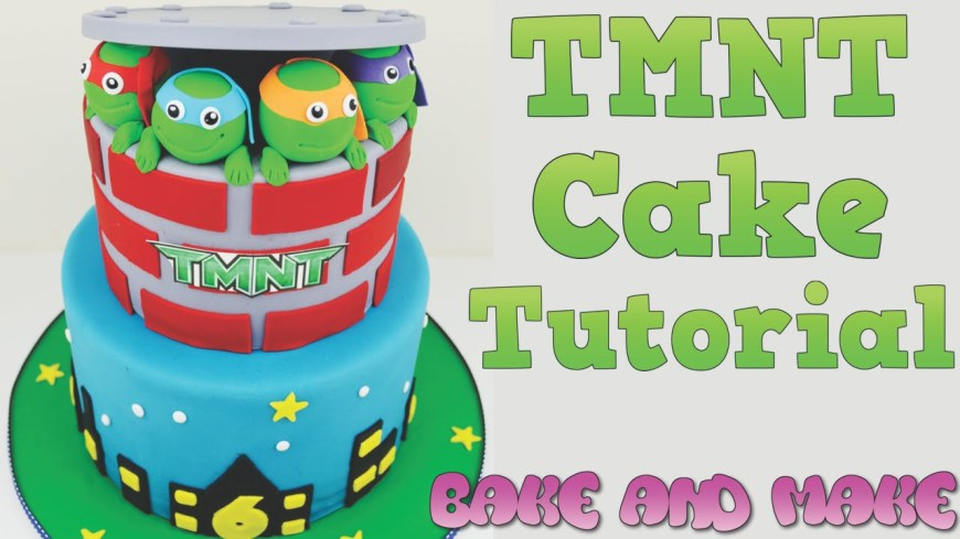 Tmnt Birthday Cake How To Make A Tmnt Birthday Cake Tutorial Bake And Make With Angela