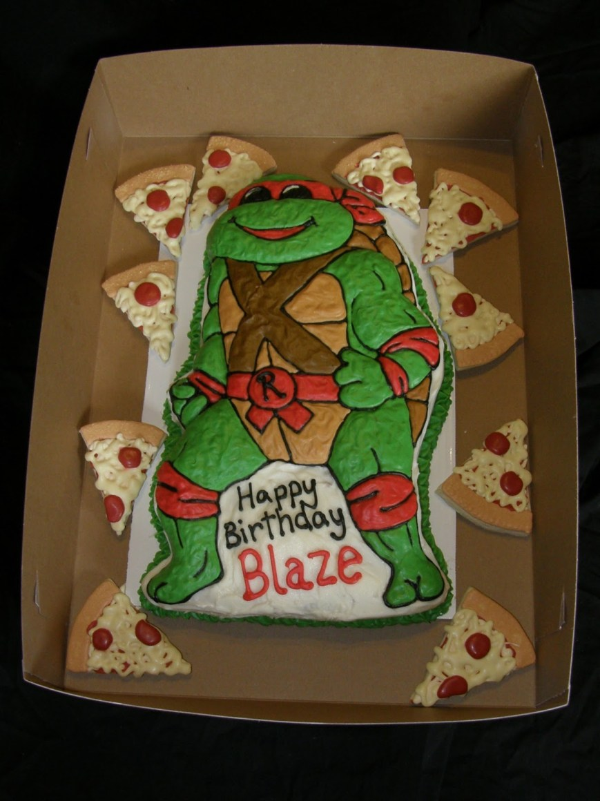 Tmnt Birthday Cake Mrs Lydias Kitchen Tmnt Birthday Cake