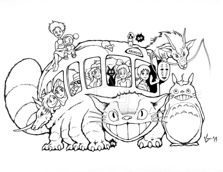 Totoro Coloring Pages Amazing Ideas Totoro Coloring Pages Totoro Coloring Pages With
