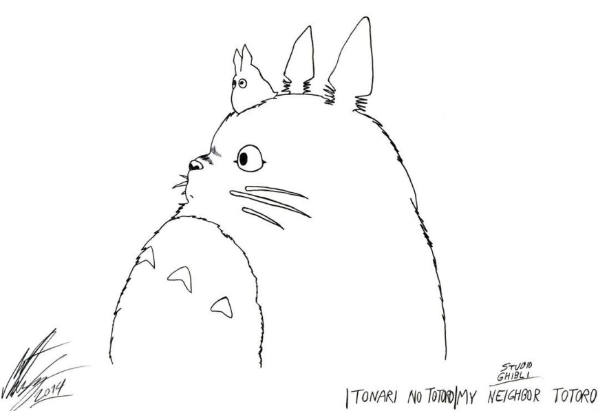 Totoro Coloring Pages My Neighbor Totoro Coloring Pages Wuming