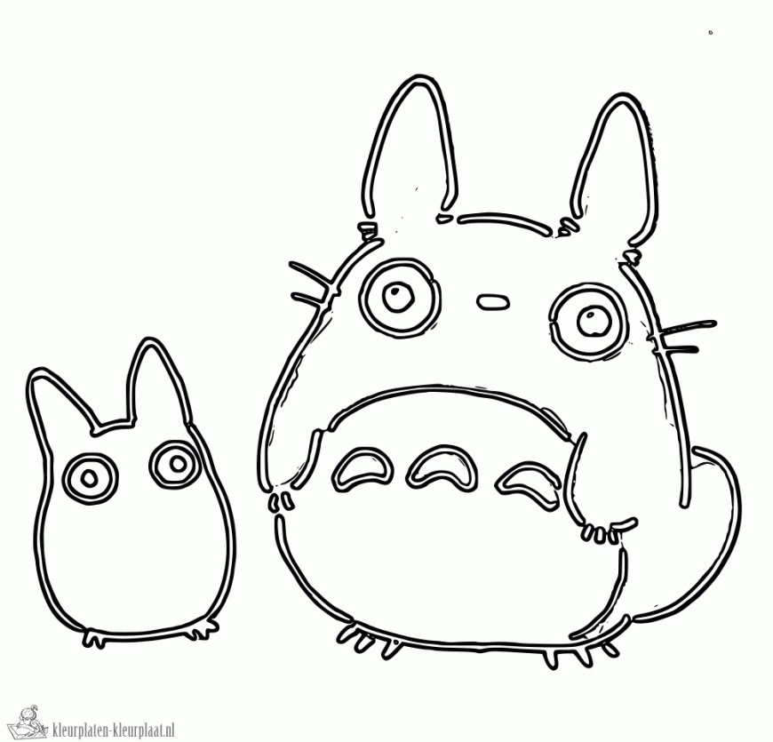 Totoro Coloring Pages Totoro Coloring Pages With Wallpapers Phone 1000960 Attachment