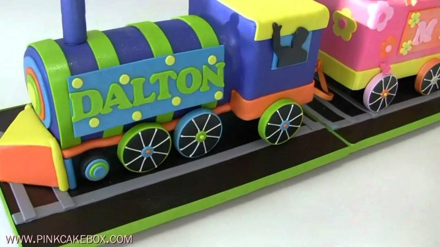 Train Birthday Cake Birthday Train Cake Youtube