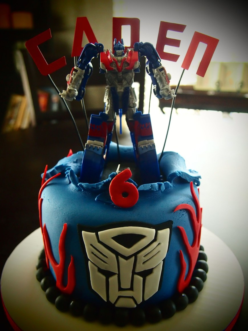 Transformers Birthday Cake Optimus Prime Transformer Birthday Cake Olive Parties Olive