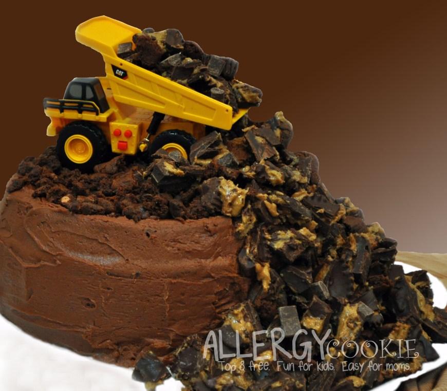 Truck Birthday Cake Allergy Free Dump Truck Birthday Cake Top 8 Free Gluten Free