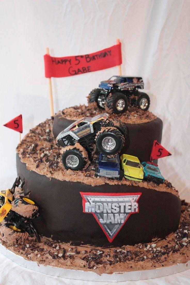 Truck Birthday Cake Monster Truck Cakes Monster Truck Cake Hunters 4th Birthday