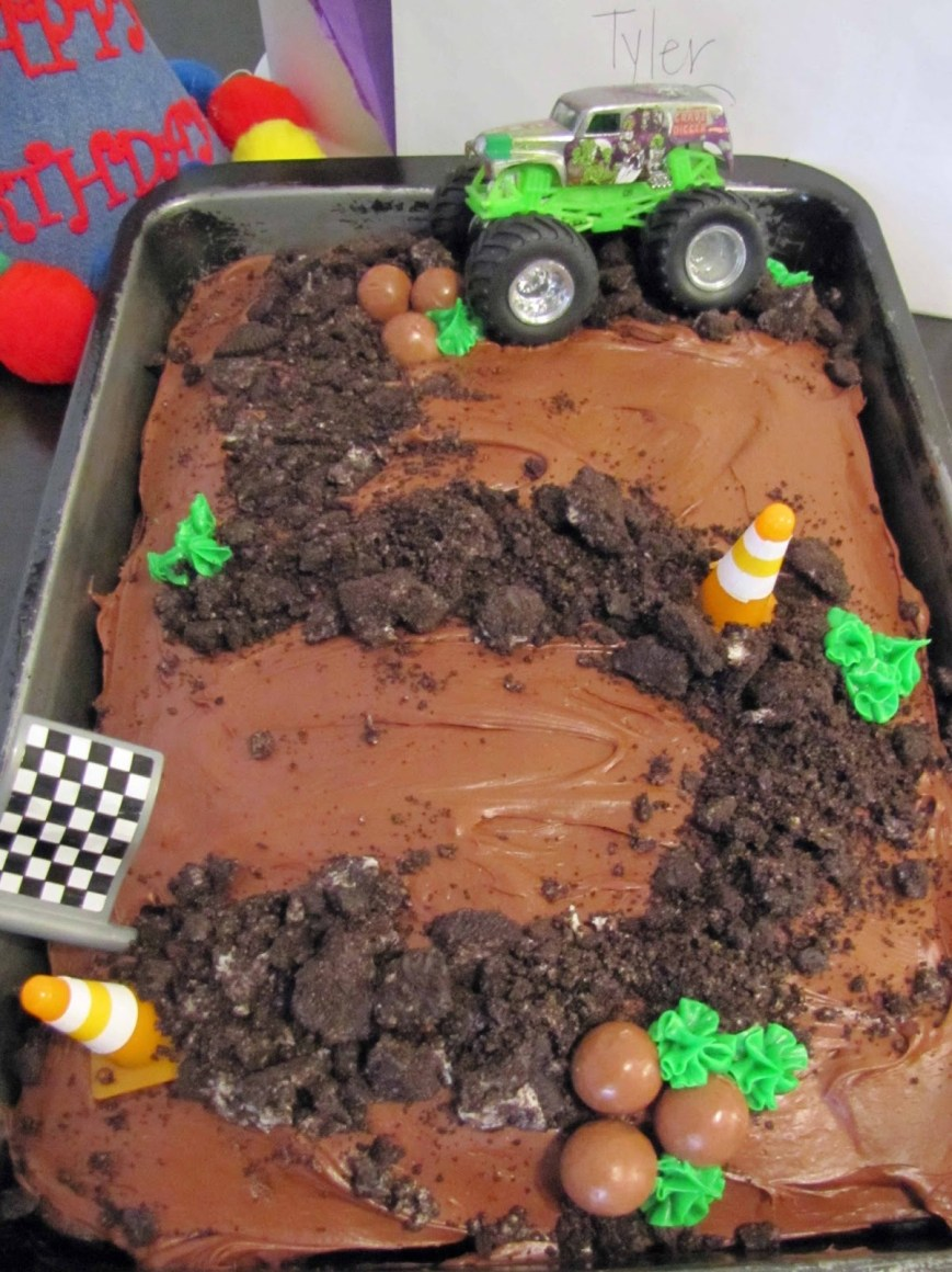 Truck Birthday Cake Monster Truck Themed Birthday Cake School Time Snippets