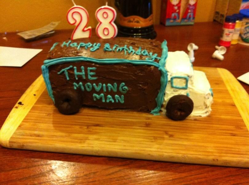 Truck Birthday Cake Moving Truck Birthday Cake