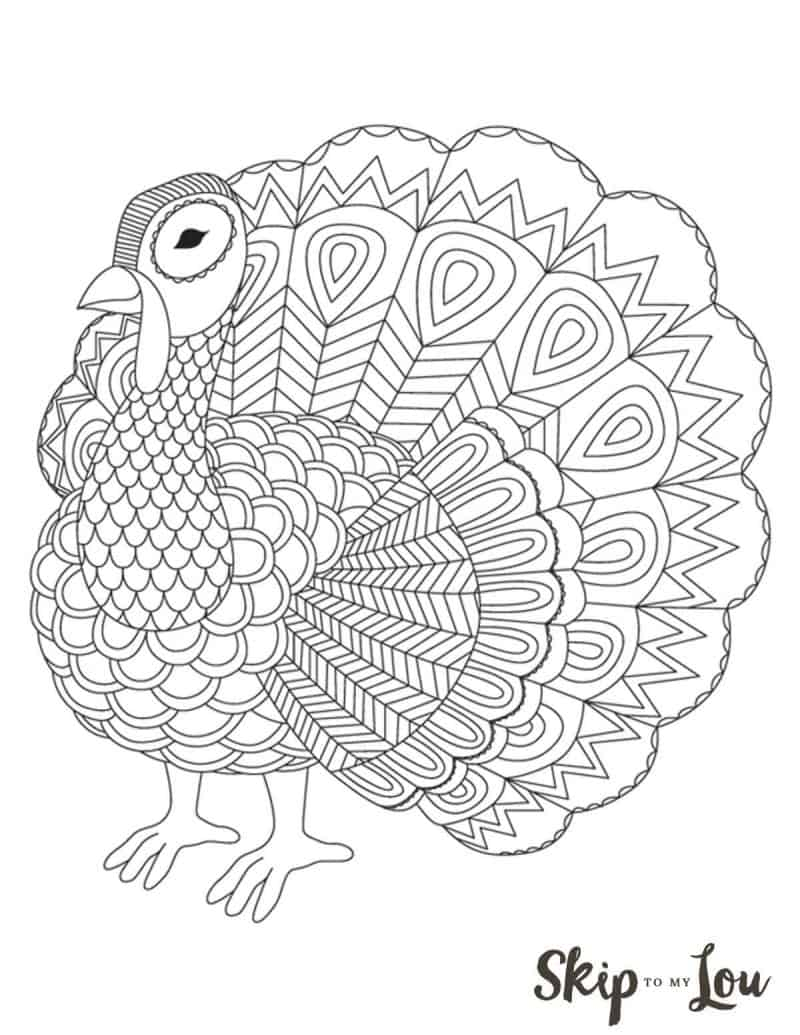 Turkey Coloring Pages The Cutest Free Turkey Coloring Pages Skip To My Lou