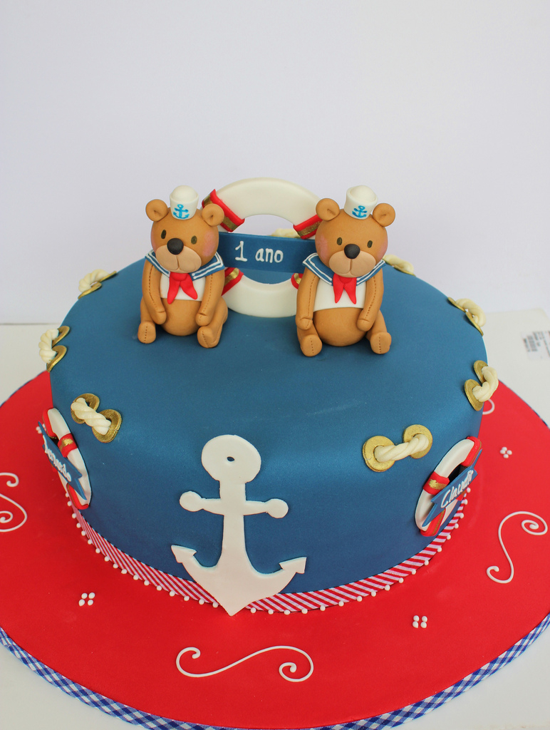 Twins Birthday Cake Nautical Ba Twins Birthday Cake Isa Flickr