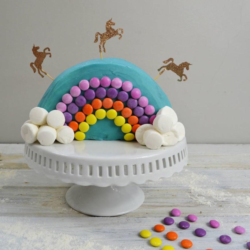Unicorn Birthday Cake Rainbow Unicorn Birthday Cake Kit Craft Crumb