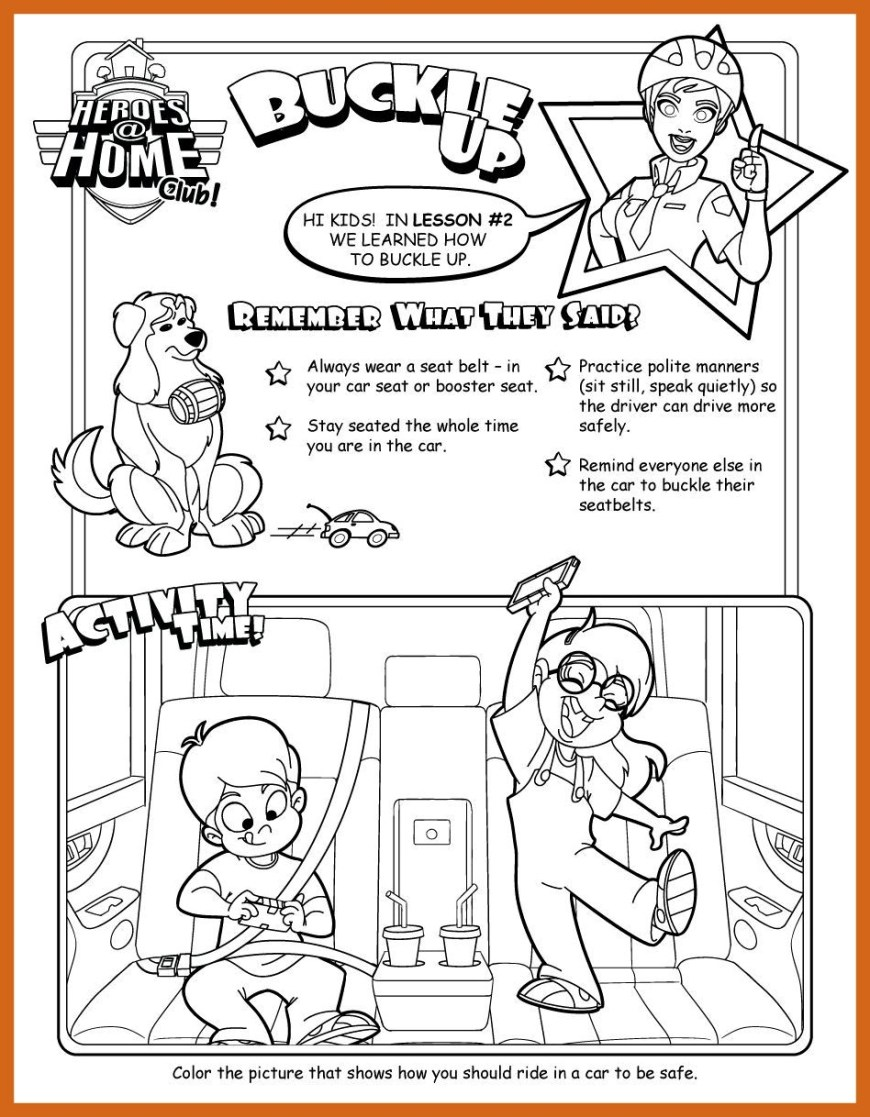 Up Coloring Pages Buckle Up Coloring Pages Sleekads