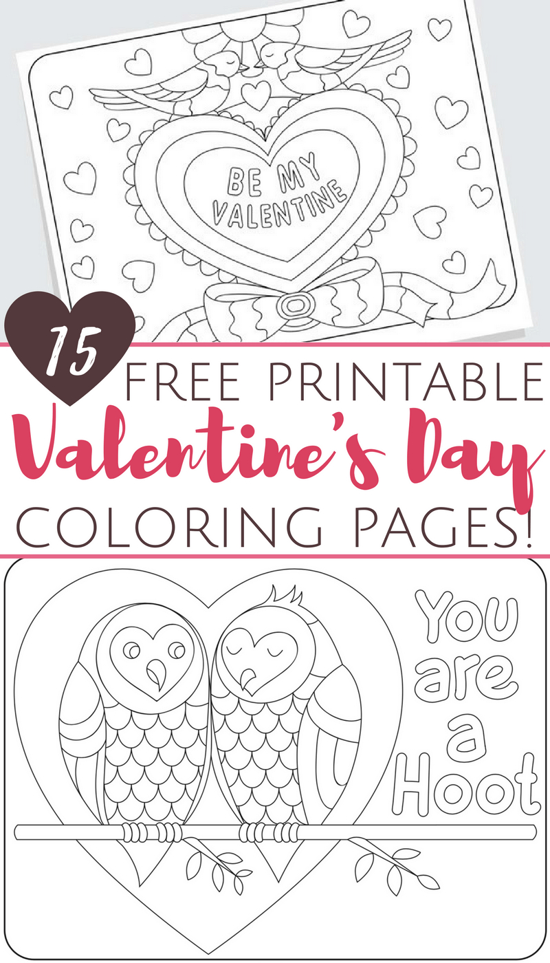 Valentine Day Coloring Pages Free Printable Valentines Day Coloring Pages For Adults And Kids