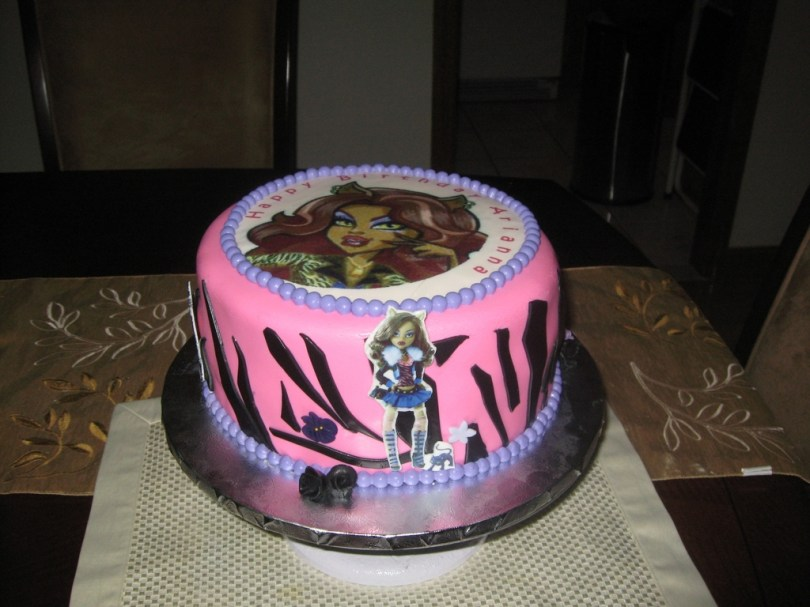 Wolf Birthday Cake Monster High Clawdeen Wolf Birthday Cake Cakecentral