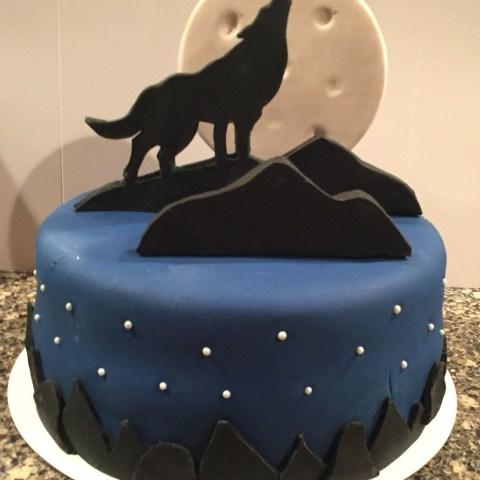 Wolf Birthday Cake Wolf Cake Wolf Theme In 2018
