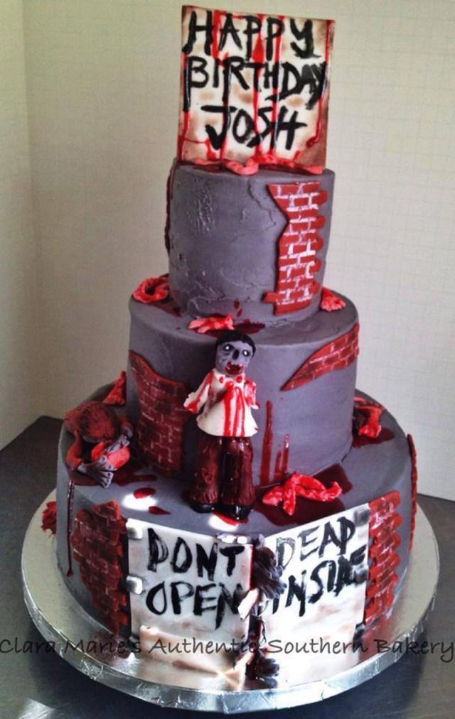 Zombie Birthday Cake 11 Themed Cakes Photo Wedding