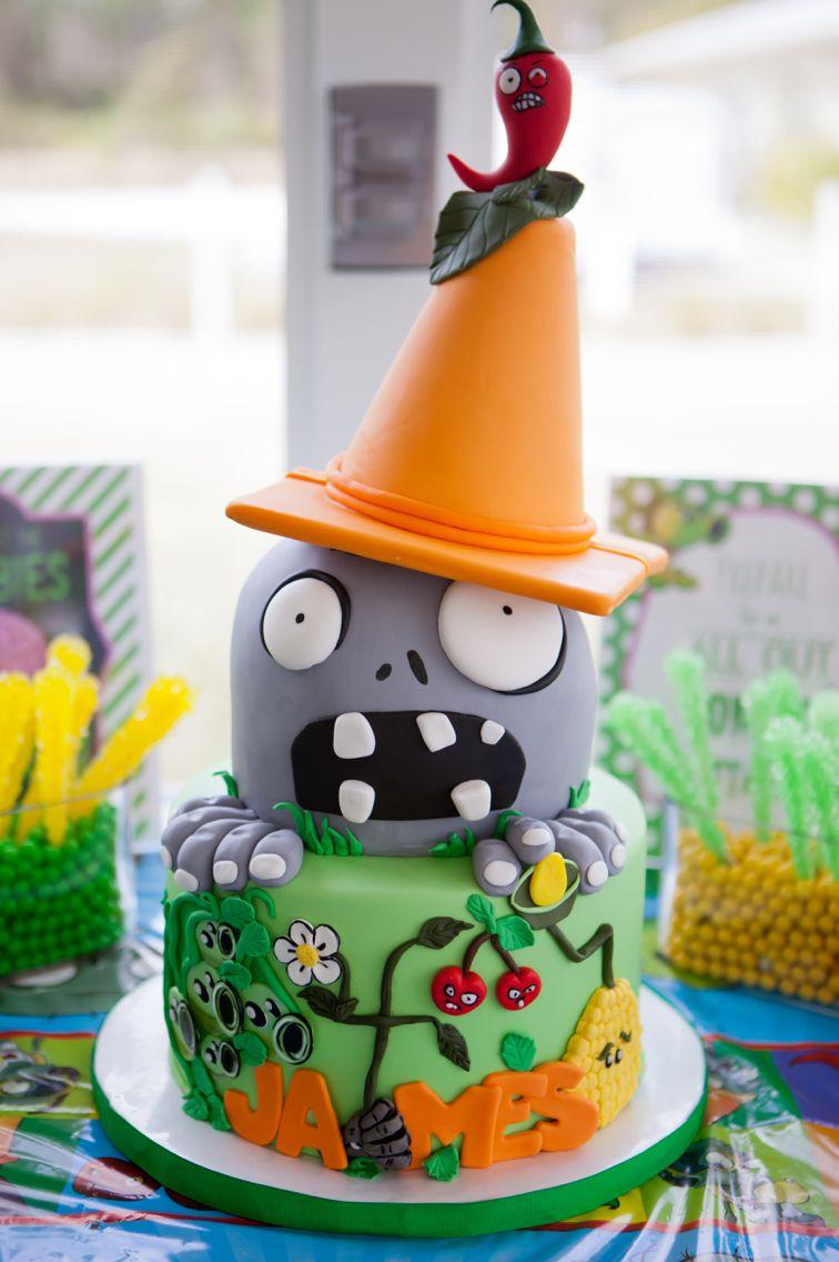 Zombie Birthday Cake Plants Vs Zombies Birthday Cake Bliss Pastry Kuchen Cookies