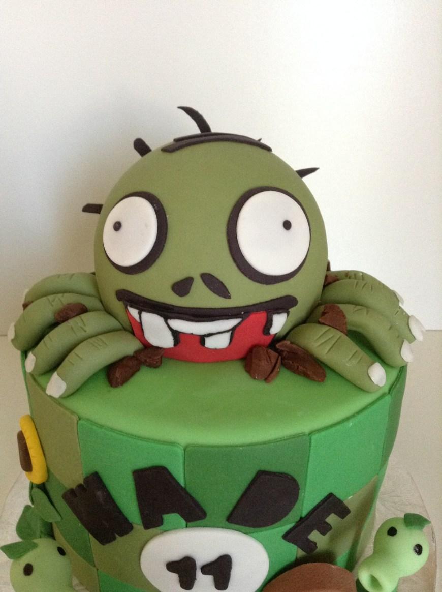 Zombie Birthday Cake Plants Vs Zombies Birthday Cake Cakecentral