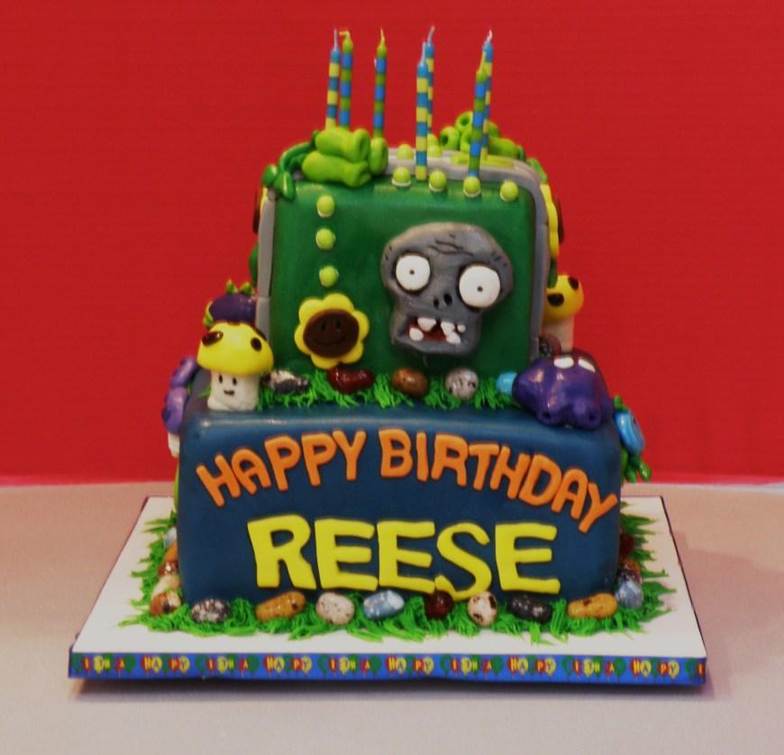 Zombie Birthday Cake Plants Vs Zombies Birthday Sandys Cake Blog