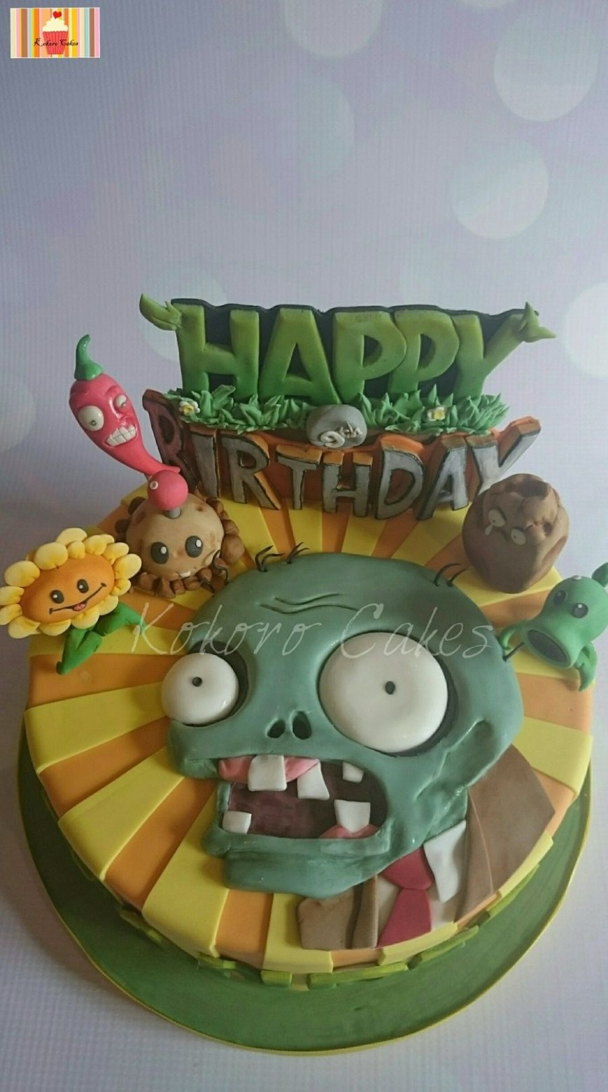 Zombie Birthday Cake Plants Vs Zombies Themed Cake Cakescupcakes And Cookies I Love
