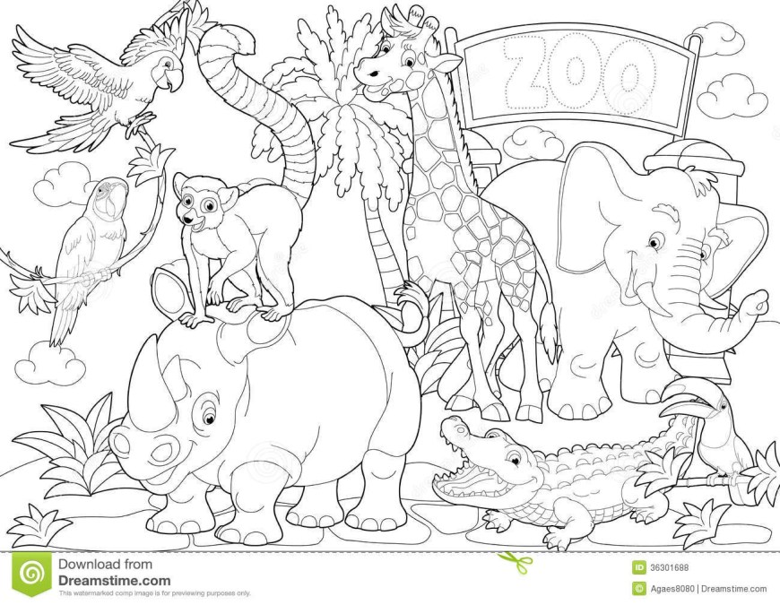 Zoo Coloring Pages Zoo Coloring Pages 51338 Octaviopaz