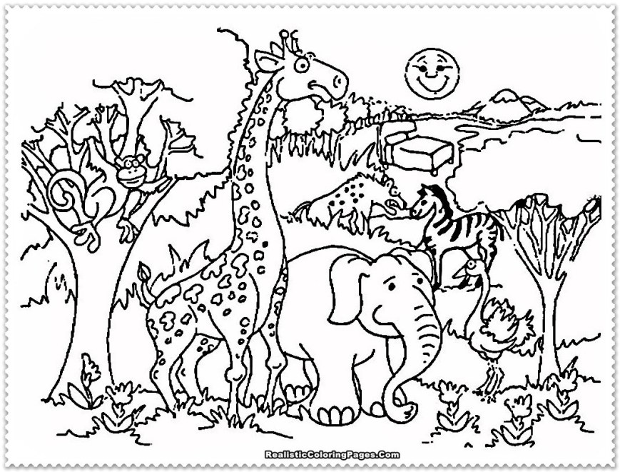 Zoo Coloring Pages Zoo Coloring Pages Diywordpress