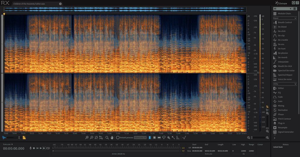 RX6 audio repair screen