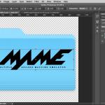 Photoshop resize MAME logo