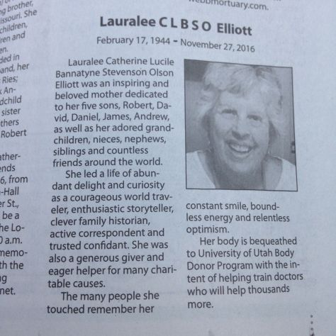 Lauralee's Obituary